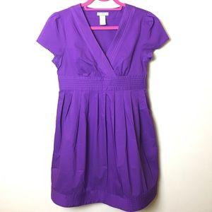 Delia*s Purple Babydoll Dress with Ribbon Size M